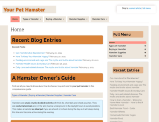 yourpethamster.com screenshot