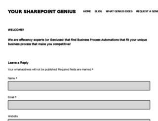 yoursharepointgenius.com screenshot