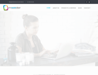 yoursocialvillage.com screenshot