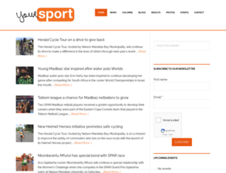 yoursport.co.za screenshot