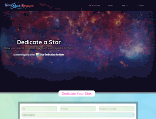 yourstarforever.com screenshot