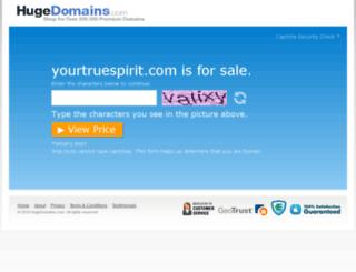 yourtruespirit.com screenshot
