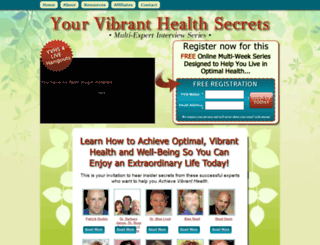 yourvibranthealthsecrets.com screenshot