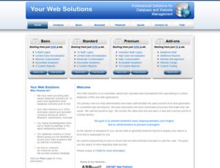 yourwebsolutions.com.au screenshot