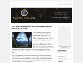 yourwishcommander.wordpress.com screenshot