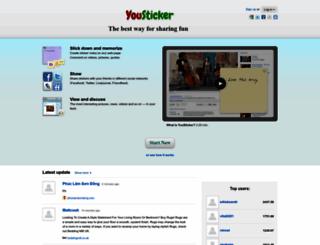 yousticker.com screenshot