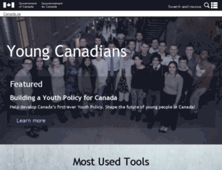 youth.gc.ca screenshot