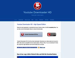 youtubedownloaderhd.com screenshot
