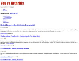youvsarthritis.com screenshot