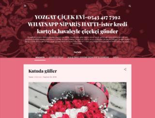 yozgattacicekci.blogspot.com screenshot