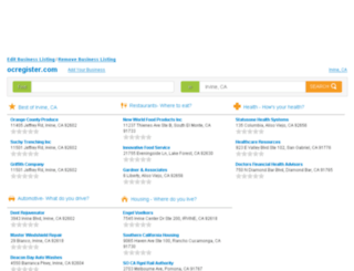 yp.ocregister.com screenshot