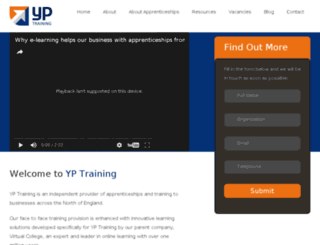yptraining.co.uk screenshot