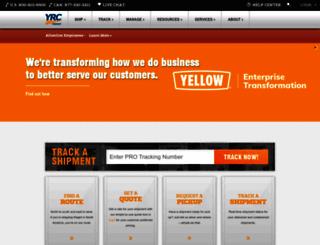 yrc.com screenshot