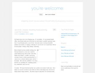 yrwelcome.wordpress.com screenshot