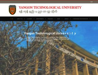 ytu.edu.mm screenshot