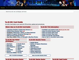 yugiohcardguide.com screenshot