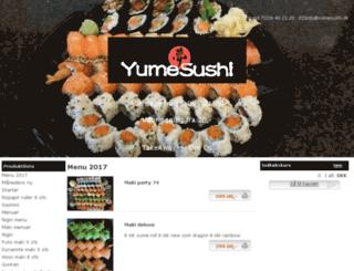 yumesushi.dk screenshot