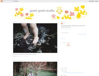 yumiyumistudio.blogspot.com screenshot