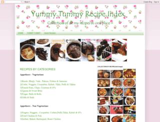 yummytummyrecipeindex.blogspot.in screenshot