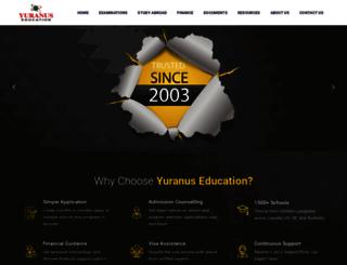 yuranuseducation.com screenshot