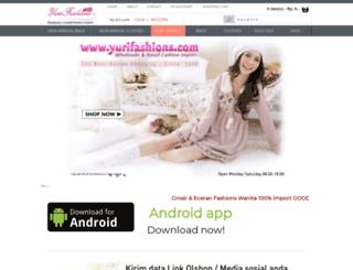yurifashions.com screenshot