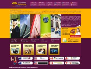 yurtdisindauniversite.com screenshot