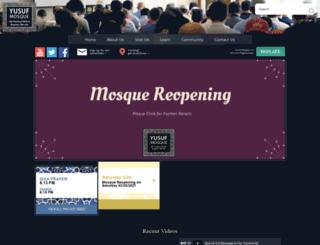 yusufmosque.com screenshot