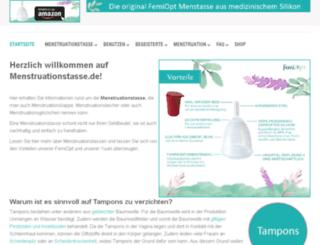 yuuki-menstruationstasse.de screenshot