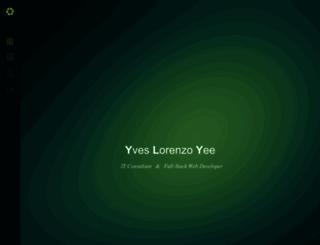 yveslorenzo.com screenshot