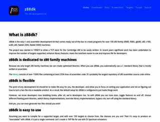 z88dk.org screenshot
