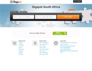 za.gigajob.com screenshot