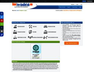 za.global-free-classified-ads.com screenshot