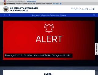 za.usembassy.gov screenshot