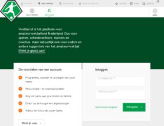 zaal.voetbal.nl screenshot