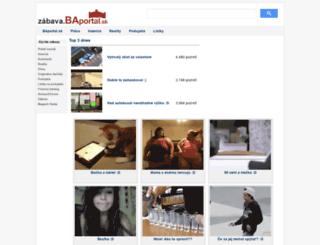 zabava.baportal.sk screenshot