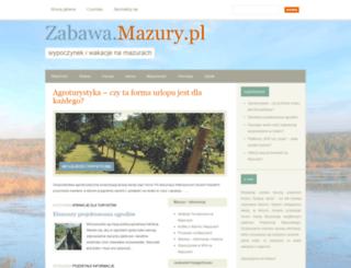 zabawa.mazury.pl screenshot