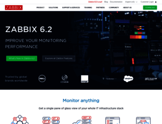 zabbix.com screenshot