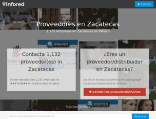 zacatecas.infored.com.mx screenshot