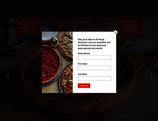 zacharys.com screenshot