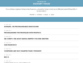 zacharyvoase.com screenshot