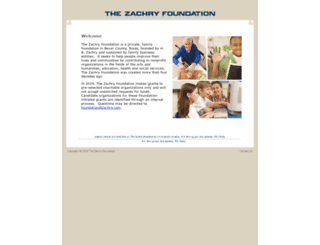 zachryfoundation.org screenshot