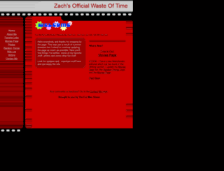 zachswasteoftime.tripod.com screenshot