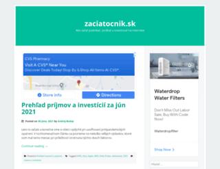 zaciatocnik.sk screenshot