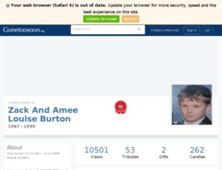 zackandameelouise-markjohn-burton.gonetoosoon.org screenshot