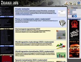 zadania.info screenshot