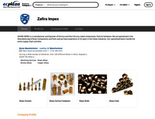 zafiraimpex.en.ecplaza.net screenshot