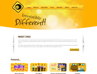 zagushakes.com screenshot