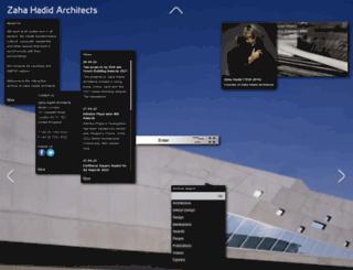 zaha-hadid.com screenshot