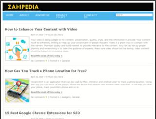 zahipedia.com screenshot