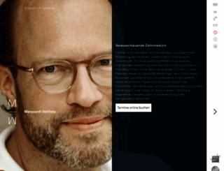 zahnaerzte-marienburg.de screenshot